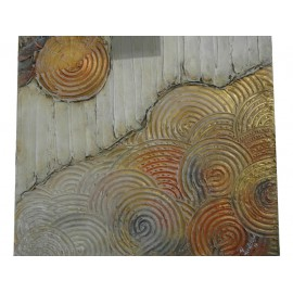 Kruhy - Ručne maľovaný obraz