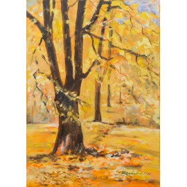 Obraz - Akryl - Zlatá jeseň - Mária Lenárdová