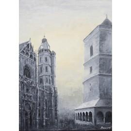 Obraz/Akryl - Urbanova veža II. - Matúš Baňas