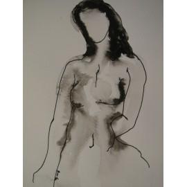Originál ručne kreslený obraz - Kresba tušom 11.