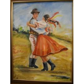 Tanec - ručne maľovaný obraz