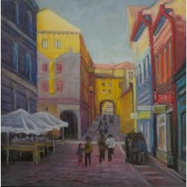 Obraz - Akryl - Oil pastel - Prešov - Jozef Onduš