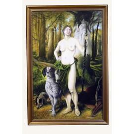 Obraz - Olejomaľba - Diana bohyňa lovu - Jozef Onduš
