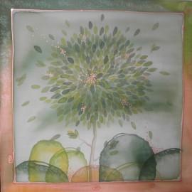 Obraz  -  ručná maľba na hodváb