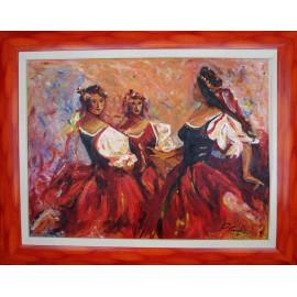 Obraz - Ohnivé tanečnice