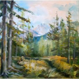 Ručne maľovaný obraz - Tatry