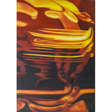 Gabriela Žolnová - Strom, Akryl, 60x85