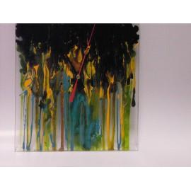Hodiny- sklenené, ručne maľované