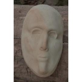 Orginálna Kamenná socha - Tvár- ležiaca