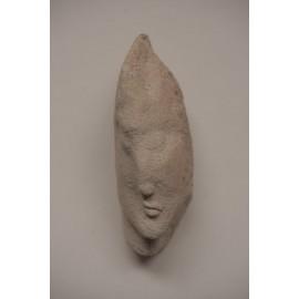 Kamenná soška - Tvár -zeolit-visiaca, ležiaca