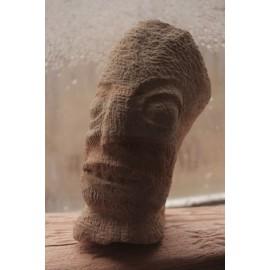 Kamenná soška - Tvár -zeolit-originál