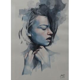 Obraz - Akvarel - Unspoken - Miroslav Zgabaj