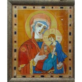 Obraz - maľba na skle - Madona s dieťaťom