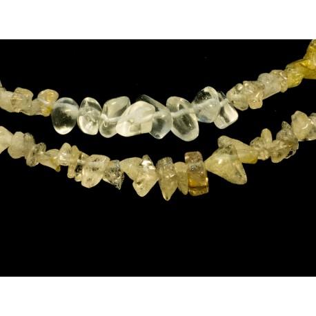Sagenit, krištáľ - náhrdelník, náušnice