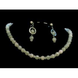 Prírodný mesačný kameň - náhrdelník, náušnice