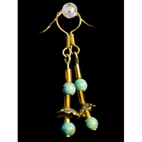 Rekonštruovaný tyrkys - náhrdelník, náušnice, náramok