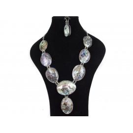 Perleť abalone - náhrdelník, náušnice