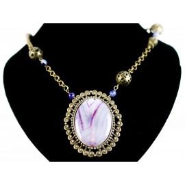 Achát retro - náhrdelník