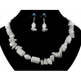 Chalcedón - náhrdelník, náušnice