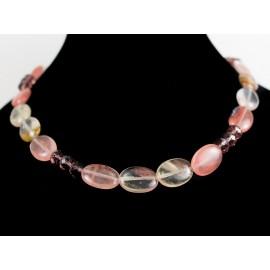 Melónový turmalín - náhrdelník, náušnice