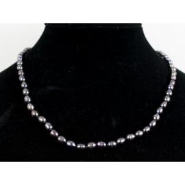 Čierne riečne perly - náhrdelník