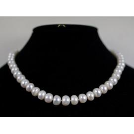 Perly biele - náhrdelník