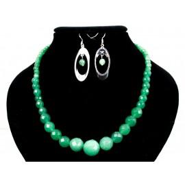 Avanturín facetovaný - náhrdelník, náušnice