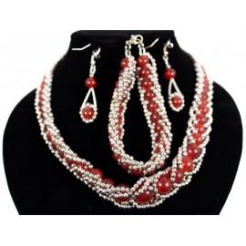 Jadeit - náhrdelník, náušnice, náramok