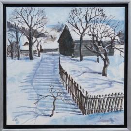 Obraz - Akryl - Slnečné zimné ráno - Ing. arch. Eva Lorenzová