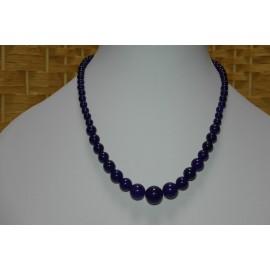 Ametyst-náhrdelník, náušnice