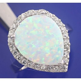 Opál - bielý austrálsky -prsteň