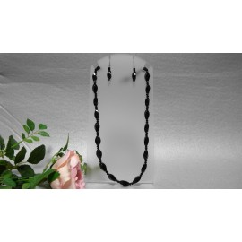 Ónyx-náhrdelník a náušnice