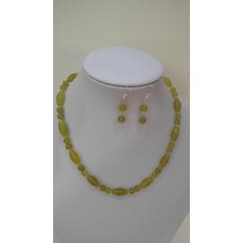 Serpentinit-náhrdelník-náušnice