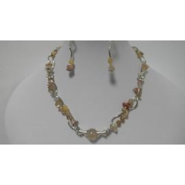 Krištáľ-náhrdelník-náušnice