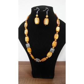 Perleť-náhrdelník-náušnice