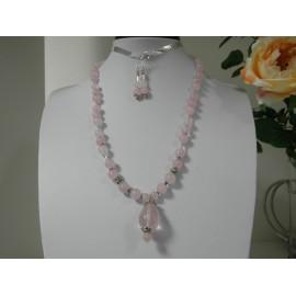Ruženín - náhrdelník a náušnice