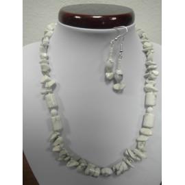 Chalcedón - náhrdelník,náušnice