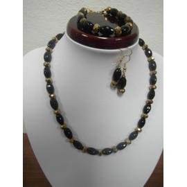 Ónyx - náhrdelník,náramok,náušnice
