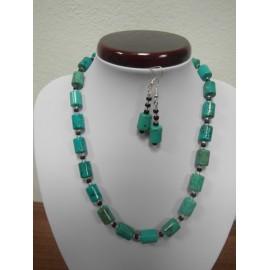 Tyrkenit - náhrdelník,náušnice