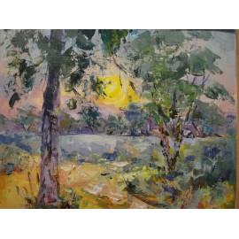 Esther Ksenzsighová - Západ Slnka na rieke San