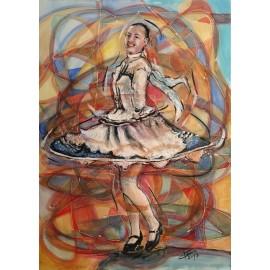 Obraz/Kombinovaná technika - Tanec - Ľubomír Korenko