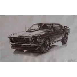 Obraz/Ceruza - Mustang Shelby - Simona Vagaská