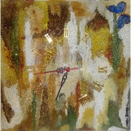 Sklenené hodiny - Maľba na sklo - Alexander Orlík