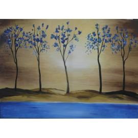 Obraz - akryl - Krajinka II - Artdiela obrazy