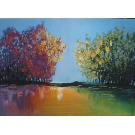 Obraz - akryl - Krajinka III - Artdiela obrazy