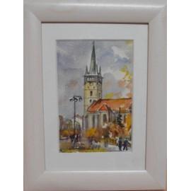 Obraz - Akvarel - Prešov, jeseň - Mária Lenárdová