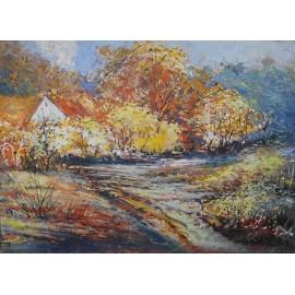 Obraz - Olej - Jeseň v horách - Miroslav Kudzia