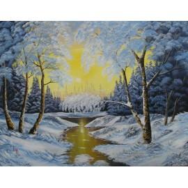 Obraz - Olejomaľba - Zima 6 -  Ján Lupčo