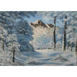 Obraz - Olejomaľba - Zima 5 -  Ján Lupčo