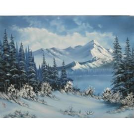 Obraz - Olejomaľba - Zima 4 -  Ján Lupčo